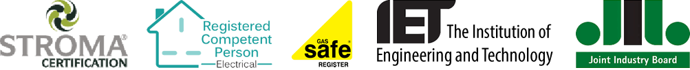 Electricians Plumbers, Gas Safe Register, Registered Competent Person, Institute or Engineering and technology, Joint Industry Board